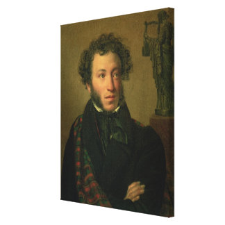 Portrait of Alexander Pushkin, 1827 Canvas Print