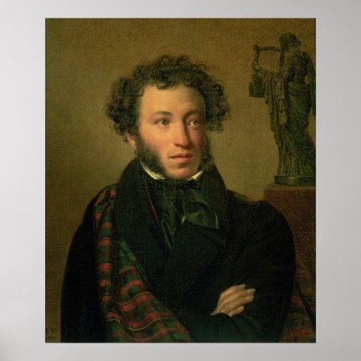 Portrait of Alexander Pushkin, 1827 Poster