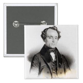 Portrait of Alexandre Dumas Fils 15 Cm Square Badge