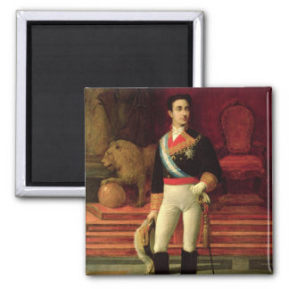 Portrait of Alfonso XII  1876 Square Magnet