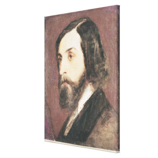 Portrait of Alfred de Musset Canvas Print