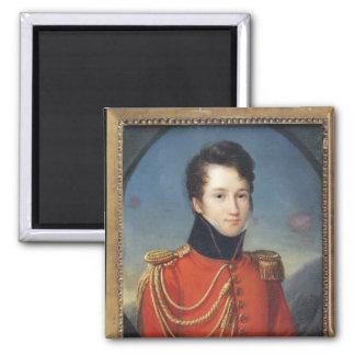 Portrait of Alfred de Vigny Square Magnet
