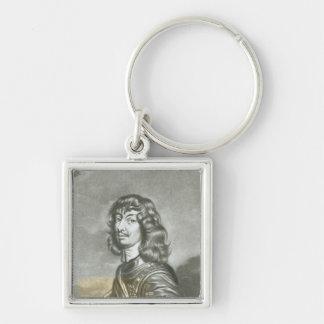 Portrait of Algernon Percy 2 Silver-Colored Square Key Ring