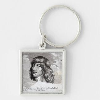 Portrait of Algernon Percy Silver-Colored Square Key Ring