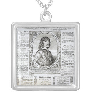 Portrait of Algernon Percy Silver Plated Necklace
