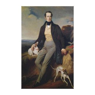 Portrait of Alphonse de Lamartine  1830 Canvas Print