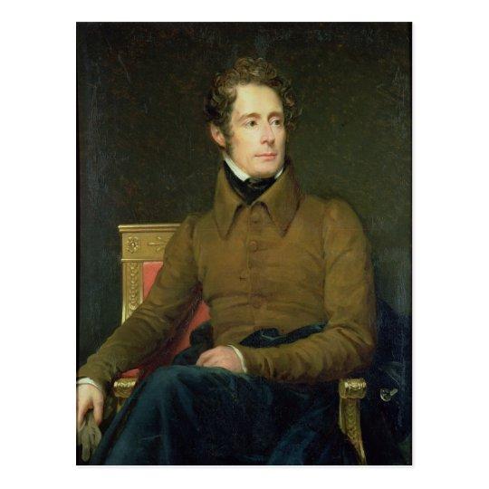 Portrait of Alphonse de Lamartine , 1831 Postcard