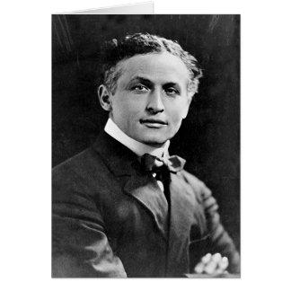 Portrait of American Magician Harry Houdini Card
