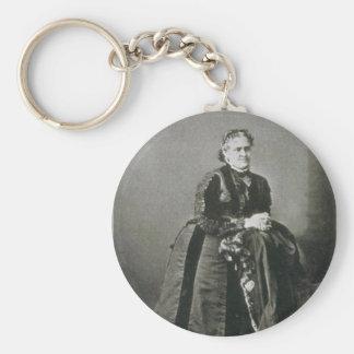 Portrait of American Writer Helen Hunt Jackson Basic Round Button Key Ring
