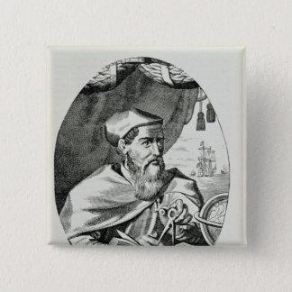 Portrait of Amerigo Vespucci 15 Cm Square Badge