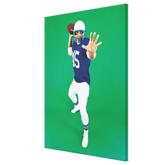 Portrait of an American Football Player Canvas Print