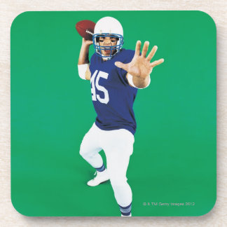 Portrait of an American Football Player Coaster