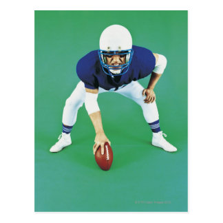 Portrait of An American Football Player Holding Postcard