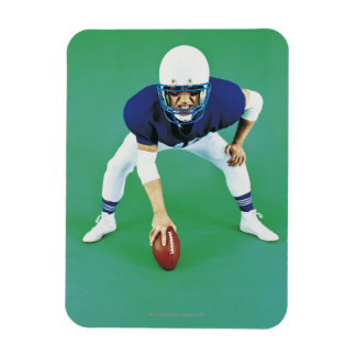Portrait of An American Football Player Holding Rectangular Photo Magnet