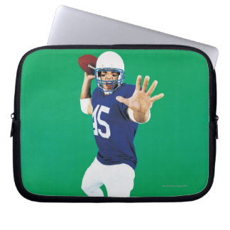 Portrait of an American Football Player Laptop Sleeve