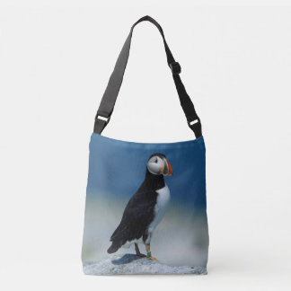 Portrait of an Atlantic Puffin Crossbody Bag