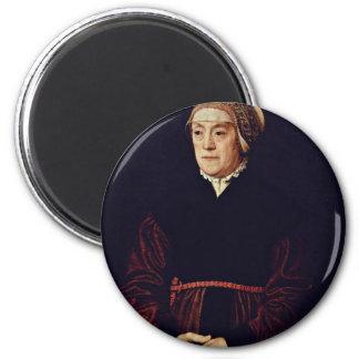 Portrait Of An Elderly Lady By Neufchâtel Nicolas 6 Cm Round Magnet