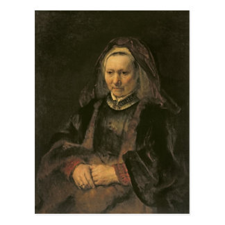 Portrait of an Elderly Woman, c. 1650 Postcard