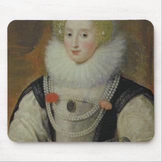 Portrait of an Elizabethan Lady with a Parrot Mouse Mat