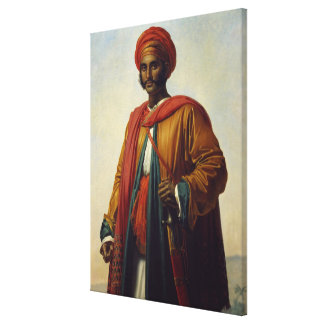 Portrait of an Indian Canvas Print