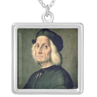 Portrait of an Old Man Silver Plated Necklace