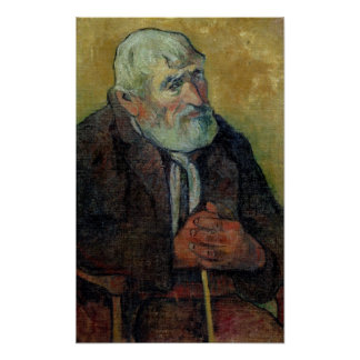 Portrait of an Old Man with a Stick, 1889-90 Poster