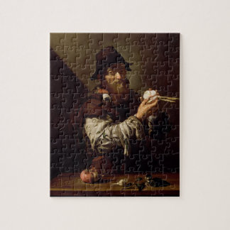 Portrait of an Old Man with an Onion (oil on canva Jigsaw Puzzle