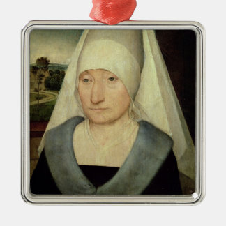 Portrait of an Old Woman (oil on panel) Christmas Ornament