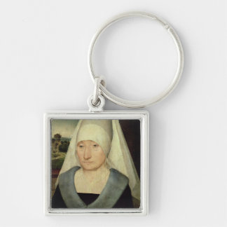 Portrait of an Old Woman (oil on panel) Key Ring