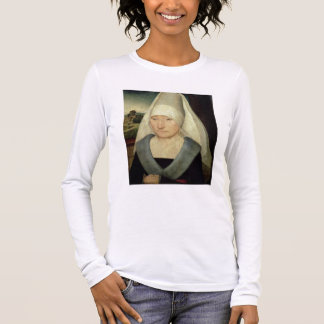 Portrait of an Old Woman (oil on panel) Long Sleeve T-Shirt