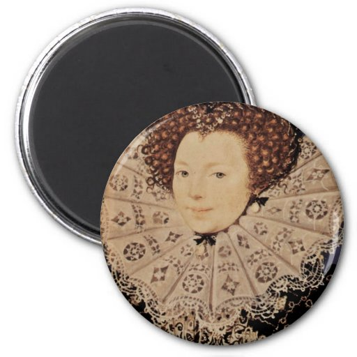 Portrait Of An Unknown Lady Oval By Nicholas Hilli Fridge Magnets