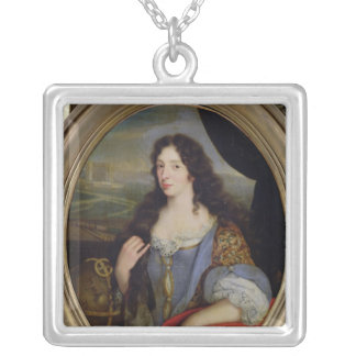 Portrait of an Unknown Learned Woman in Front Silver Plated Necklace