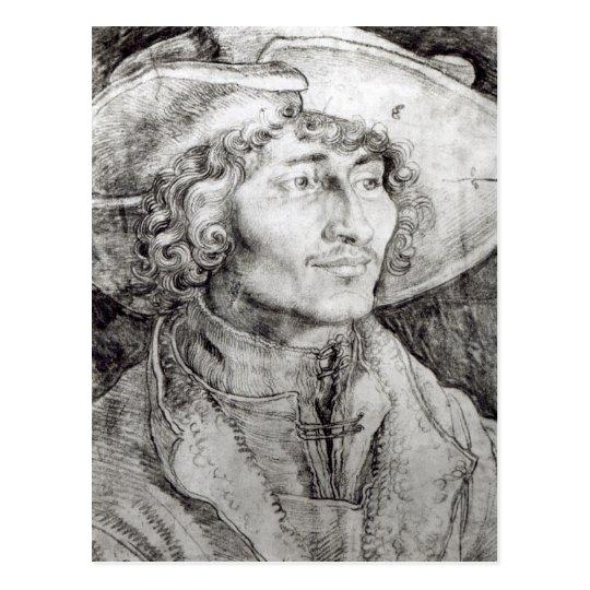 Portrait of an unknown man, 1521 postcard