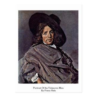 Portrait Of An Unknown Man. By Frans Hals Postcard