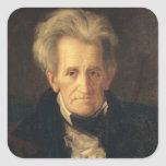 Portrait of Andrew Jackson Square Sticker