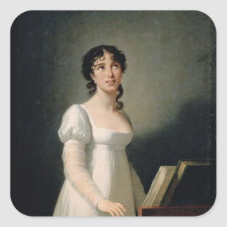 Portrait of Angelica Catalani Square Sticker