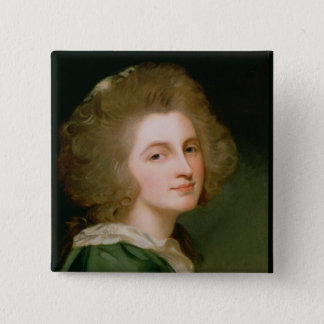 Portrait of Ann Barbara Russell 15 Cm Square Badge