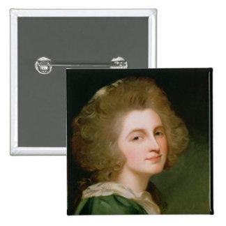 Portrait of Ann Barbara Russell 15 Cm Square Badge