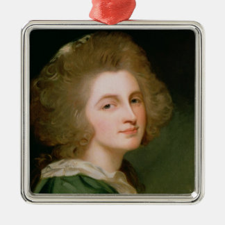 Portrait of Ann Barbara Russell Silver-Colored Square Decoration