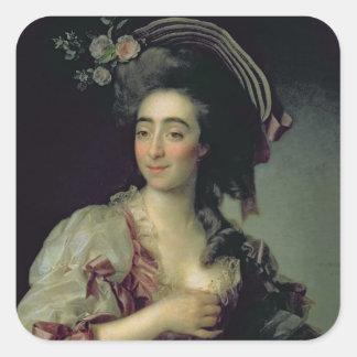 Portrait of Anna Davia-Bernucci, 1782 Square Sticker