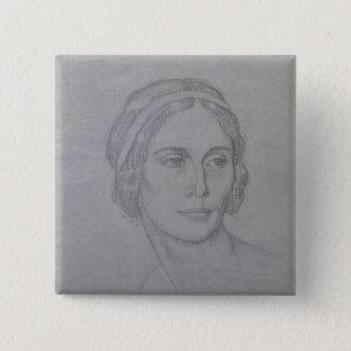 Portrait of Anna Pavlova , 1908 15 Cm Square Badge