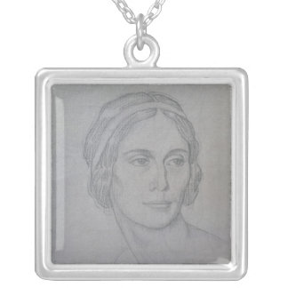 Portrait of Anna Pavlova , 1908 Silver Plated Necklace