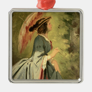 Portrait of Anna, the artist's daughter, 1860 Christmas Ornament