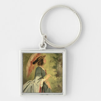 Portrait of Anna, the artist's daughter, 1860 Key Ring