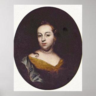 Portrait of Anna Veronika by Wenzel Lorenz Reiner Posters