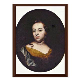 Portrait Of Anna Veronika Nee Hertzog Of Hertzog Postcard