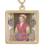 Portrait of Anne Boleyn (1507-36) 2nd Queen of Hen Personalized Necklace