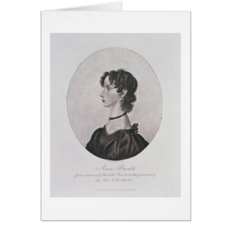 Portrait of Anne Bronte (1820-49) from a drawing i Card