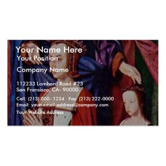 Portrait Of Anne De France, After The Patron Sain Business Card Template