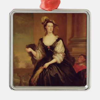 Portrait of Anne Howard, Lady Yonge (oil on canvas Silver-Colored Square Decoration